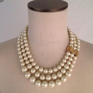 Kate Spade Moon River Triple Strand Pearl Necklace